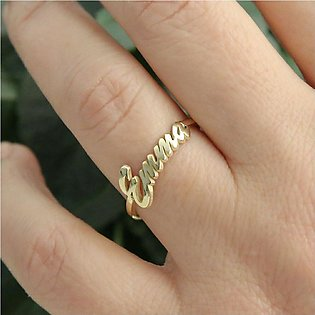 TG Name Ring 18K Gold Plated For Women