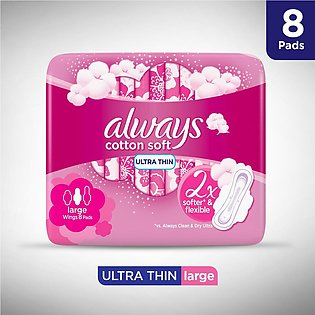 Always Softs Ultra Sanitary Pads, Long, Single Pack