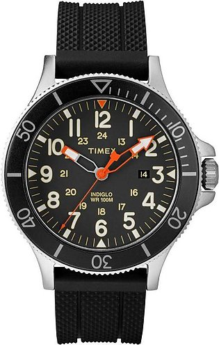 Timex Allied Black Dial Silicone Strap Watch for Men- TW2R60600