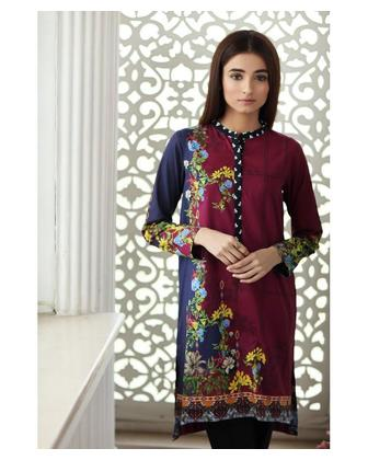 So Kamal Women Summer Collection Multi 1 PCS Stitched- Printed Kurti Int:L DPL 19-329