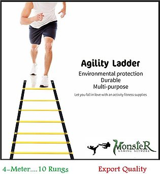 Football training agility ladder 10 rungs drilling exercise fitness ladder-4 Me…