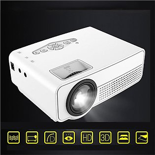 S280 Portable Mini LED Cinema Video Digital 1080P HD Home Theater Projector B...