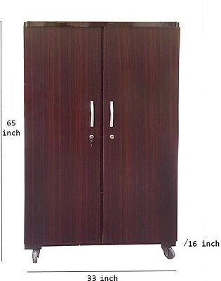 5 Feet Lamination Wardrobe Cupboard Brown    Almari shoe rack cabinet kids furn…