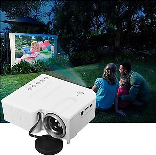 UC28B+ Portable HD 1080P Mini LED Projector with USB TV AV For Home Office Ci...