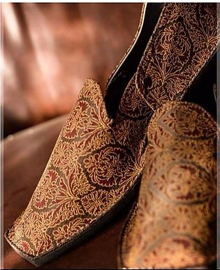 Multicolores Embroidery Khussa For Men