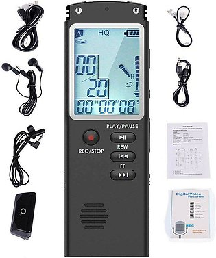 Voice Activated Mini Digital Sound Audio Recorder Dictaphone MP3 Player
