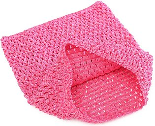【Special Sale】Crochet Tube Top elastic Waistband Hot Pink