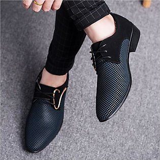 Pointed Leather Casual Shoes for Men