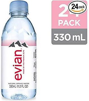 PACK OF 24 : EVIAN NATURAL MINERAL WATER 330 ML