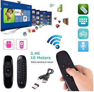 Air Mouse C120 For Android And Smart TV Wireless Keyboard Remote Control With V…