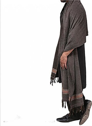 High Quality Design Pure Velvet Shawl Winter Collection - For Men - Gray Color