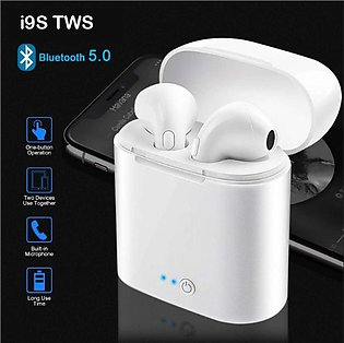 i 9S TWS Wireless Bluetooth Earbuds With Charging Box Airpods Wireless Handfr...