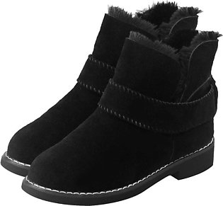 Winter Low Heel Thickening Keep Warm Snow Boots Women Flat Boots Ankle Boots