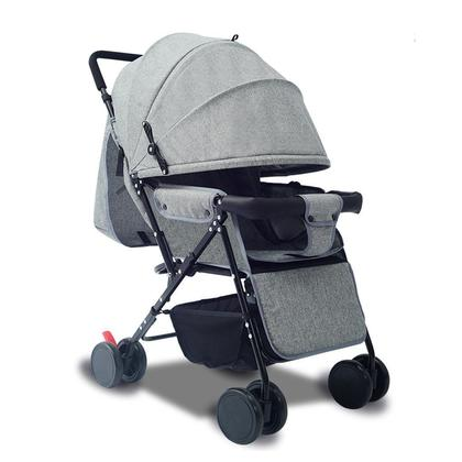 Lightweight Stroller Reclining Foldable Baby Trolley Big Four-wheeled Stroller with Awning/Sleeping pad/Mosquito net