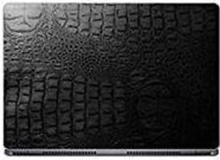 Universal Laptop Back Skin Crocodile Texture - Black