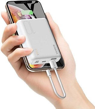 Romoss Simple10 Power Bank 10000mah 3-Input And 2 Output (New Model)