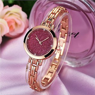 Trendy Crystal Stainless Steel Sports Watch