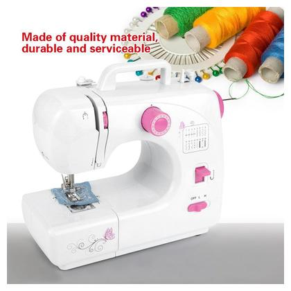 Mini Portable Electric Sewing Machine Household Hand-held Tailor Stitch UK Plug 110V-220V