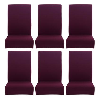 4/6pcs Simple Thin Stretch Chair Cover Elastic Seat Case Banquet Slipcover
