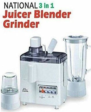 National Multifunction Juicer, Blender & Grinder - 3 In 1 - White
