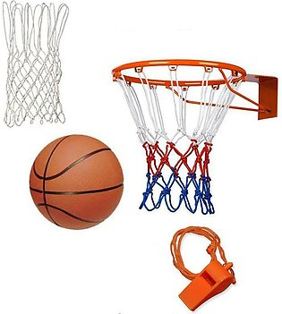 Basketball Hoop Net Ring Wall with ball Whistle deal