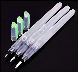 Set of 3 Water Brush Pen Marker Ink Water Colors