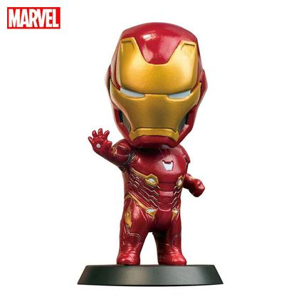 Marvel Avengers Endgame Iron Man Action Figure Collectible, Car Decoration Bobble Head Doll, 4 Inches