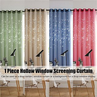 100x200cm Polyester Hollow Window Screening Curtains Home Living Bedroom Drapes