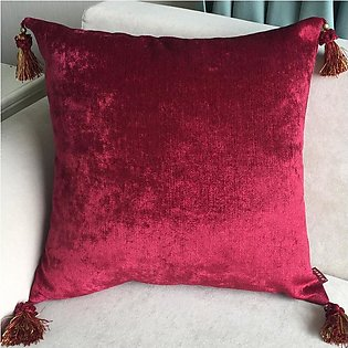 European Style Luxury Solid Color Cushion Cover with Tassels Throw Pillow Cover…