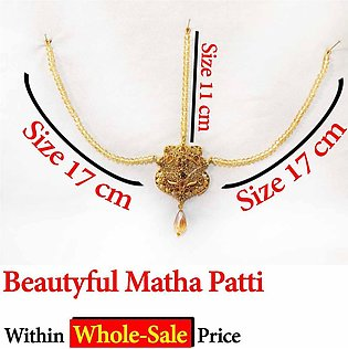 Beautiful Golden Bridal Matha Patti For Girls and Women Latest Style