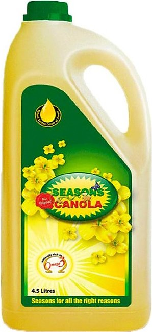 Seasons Cooking Oil Canola 4.5 Ltr