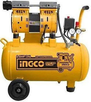 Silent and oil free Air compressor 24L