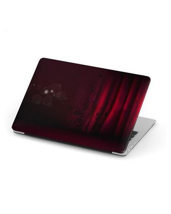 Red Curtain Background Laptop Skin