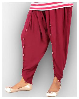 Maroon Cotton Tulip Shalwar for Women