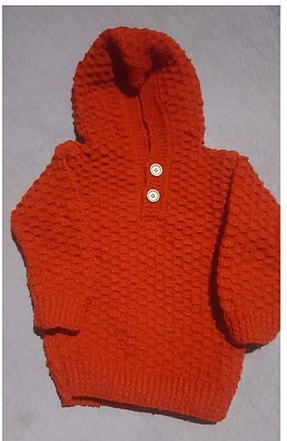 Infant and smalls Soft Woolen Crochet Baby Boys Sweater Hoods for winter (Swe...