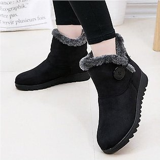 Fashion Buckle Comfortable Keep Warm Soft Winter Ankle Snow Boots For Women