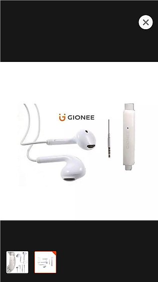 Gionee Original Handsfree for All Smart Phones - iphone - White