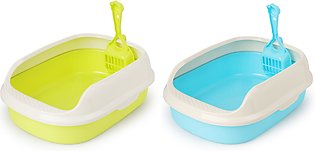 XINQIUS 2 Pcs Tet Bedpan Cat Litter Box Cat Dog Tray Tet Supply Teddy Anti-Spla…