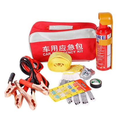 FU Zhw037 Car Fire Extinguisher Car Rescue Bag Small Portable Car Set Tool Kit - Red