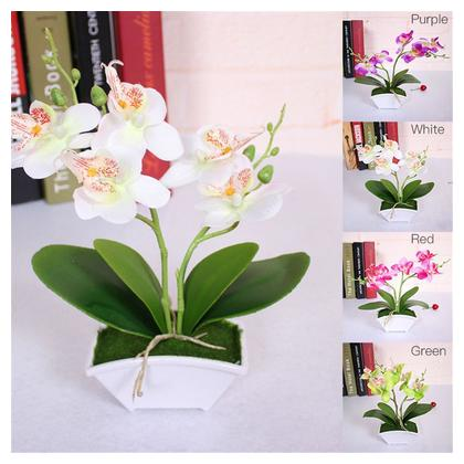 Flower arrangement phalaenopsis leaves artificial flowers home decoration wedding Artificial flowers