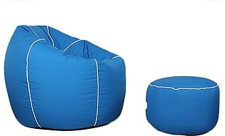 Relaxsit Cozi Series Bean Bag With Foot Stool - (Set of 2) relaxer couch lounge…