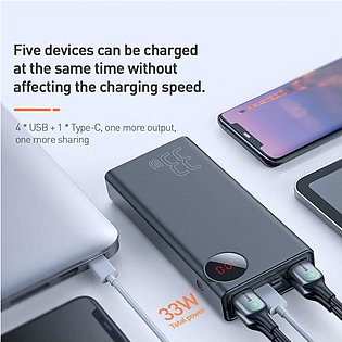 Baseus 30000mAh PD3.0 Quick Charger 3.0 Power bank For iPhone Xs Max Xr X 8 Plu…