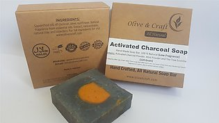 Charcoal Soap, Hand Made Chemical Free Whitening Soap (75 gram)