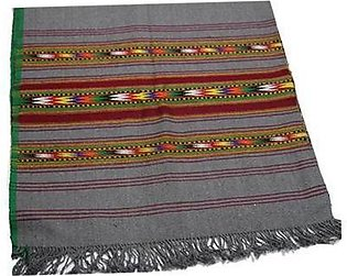 Khaddar Shawl for Gents (Dark Grayish Blue) – With 3 Line Border  Famous Kham...