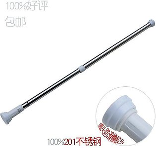 EXTENDABLE ADJUSTABLE SHOWER / CURTAIN / WARDROBE ROD SCREW LESS FITTING