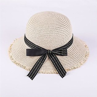 Hats For Women Ladies Hat Straw Hat Korean Lady Big Along English Butterfly Kno…