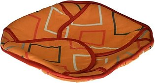 Square 11 X 11 Inches Roti Plate With Top Cover & Cloth Piece - Multicolored