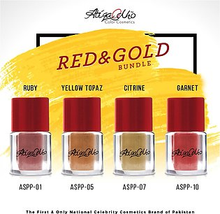 ASPP - Red & Gold Bundle - Pack of 4 Pigment Powders