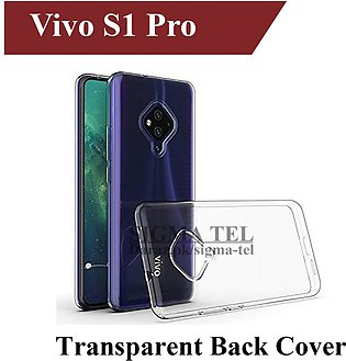 Vivo S1 Pro Back Cover Transparent Soft Crystal Clear Case For S1 Pro