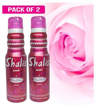 Pack of 2 Shalis Woman Imported Perfumed Frangance Body Spray Deodorant for Girls Women Special Gift - 175 ml